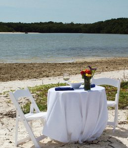 exotic beach dining image